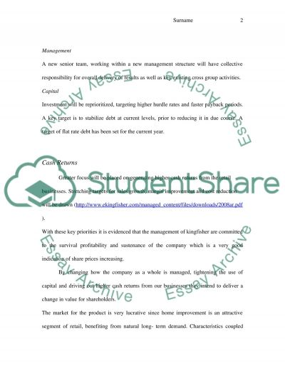 Financial Management Master Case Study essay example