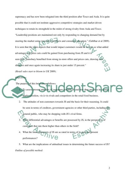marketing research and information Essay example