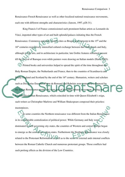 Renaissance Comparison Essay Example | Topics and Well Written ...