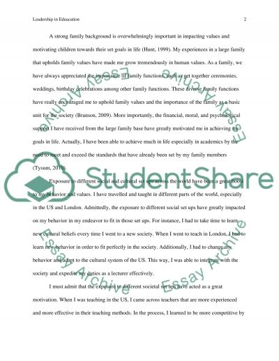Critical Life Experiences that Impacted My Life essay example