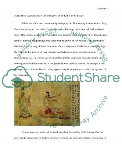 Handscrolls in the Song Dynasty or in Tang dynasty or you can compare