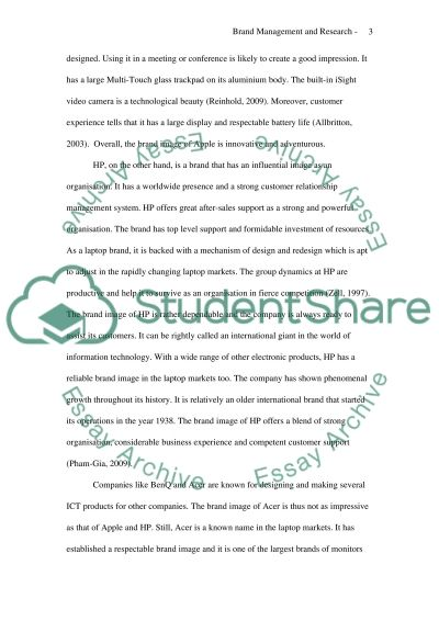 Brand Management and Research essay example