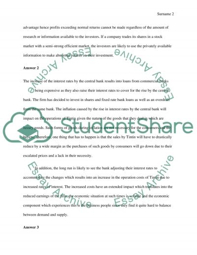 Exam Paper Essay example