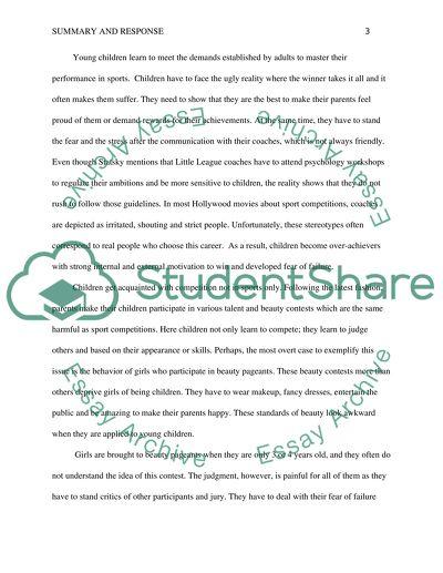 The Summary & Strong Response Essay