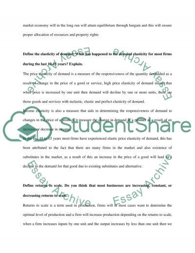 Managerial Economics Essay essay example