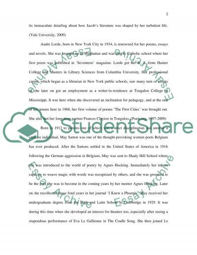 Female Literature essay example