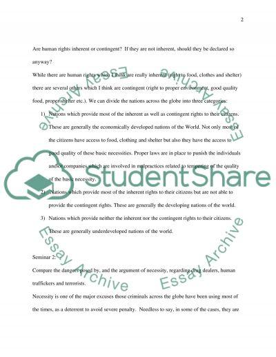 Human Rights Portfolio essay example