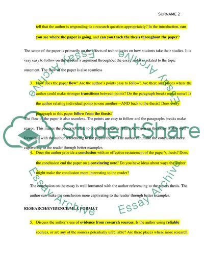 Peers Review