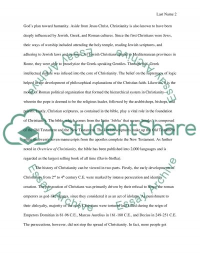All About Christianity essay example