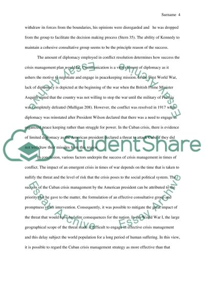 crisis management essay example topics and well written essays text