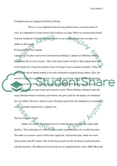 english  tablet vs laptop essay example  topics and well written  extract of sample english  tablet vs laptop