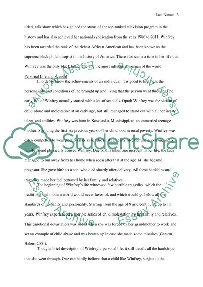 Research papers on oprah essay topics about breast cancer