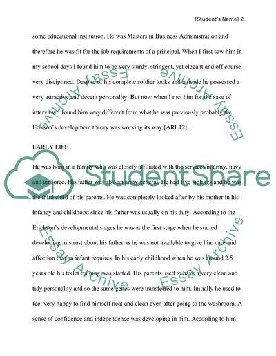 Biography of school principal