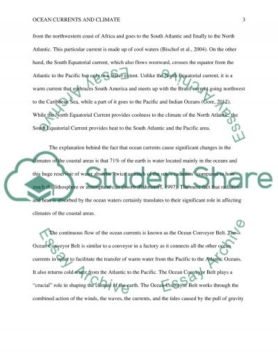 Oceans and Climate Change essay example