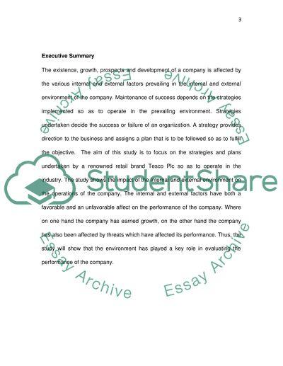 Coursework 1 Assignment: Management Report 1 : Environmental