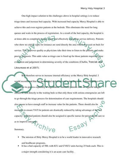 Organization of context in nursing