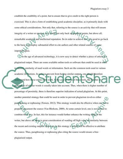 Plagiarisim essay