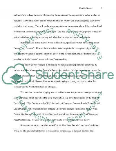 Rhetoric analysis of select paper essay example
