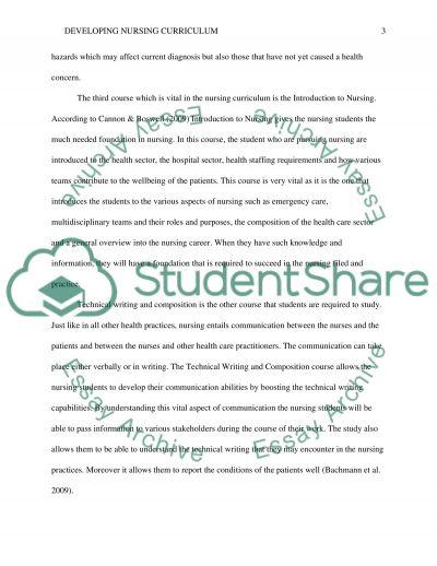 Nursing education/ Developing Nursing Curriculum