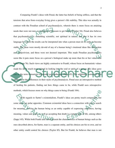 High School Persuasive Essay Topic Viktor Frankl Professes To Have Been Influenced By Both  Existentialism And Psychoanalysis But Healthy Eating Essays also Thesis Statement Examples For Persuasive Essays Topic Viktor Frankl Professes To Have Been Influenced By Both Essay Comparison Contrast Essay Example Paper