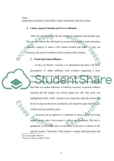 PROBLEM-SOLVING:BAR PRACTICE (law) essay example