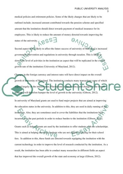 Public University Analysis essay example