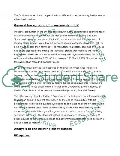 Portfolio management: asset allocation essay example
