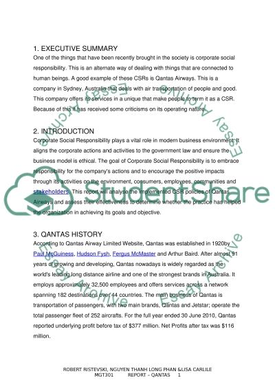 corporate social responsibility qantas airline case study corporate social responsibility qantas airline essay example