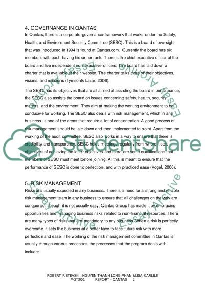 auditing assigment qantas case Assignment writing service the qantas marketing mix marketing essay print qantas airlines is the largest airline company in australia enjoying a major.