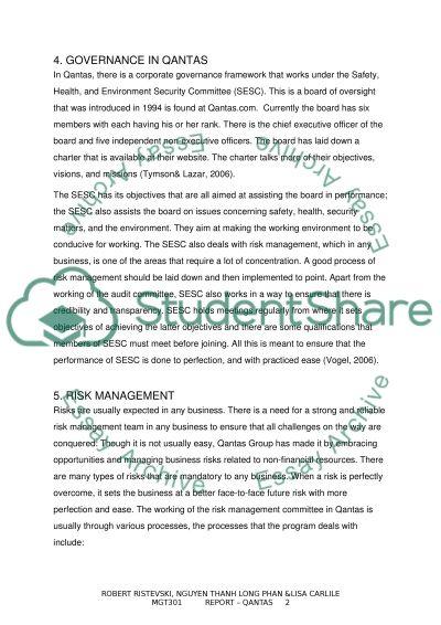 qantas case study essay example