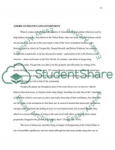 American Politics and Government essay example