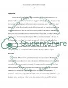Sustainability and the built environment Essay example