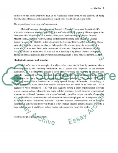 corporate/banking scandel Essay example
