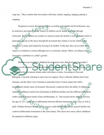 Music and Childhood Development essay example