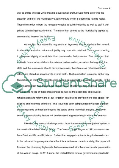 how to improve the criminal justice system essay