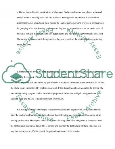 Evidence of achievement essay example