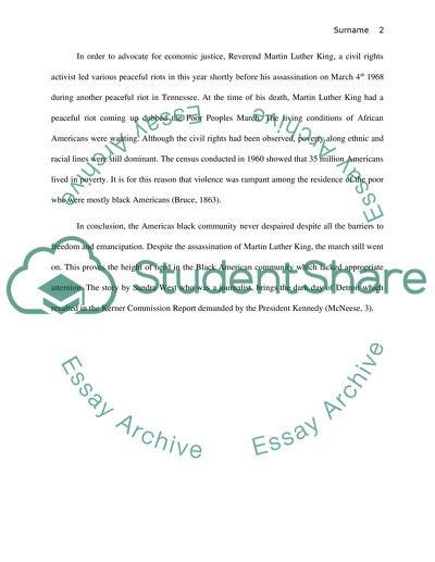 HIST 113 | 1968: The Year That Rocked the World | Spring 2014 | Writing assignment II