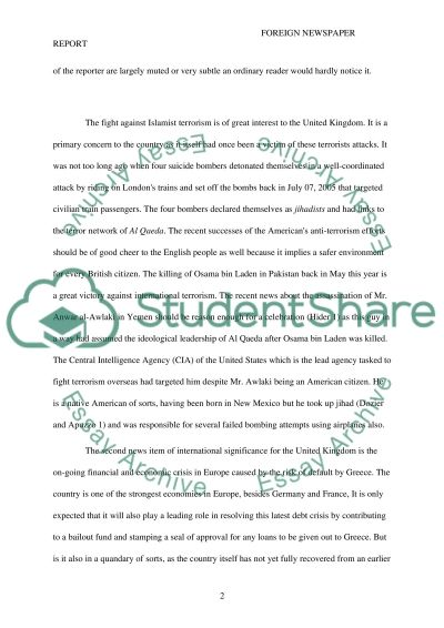 Foreign Policy Issues Faced by UK Essay example