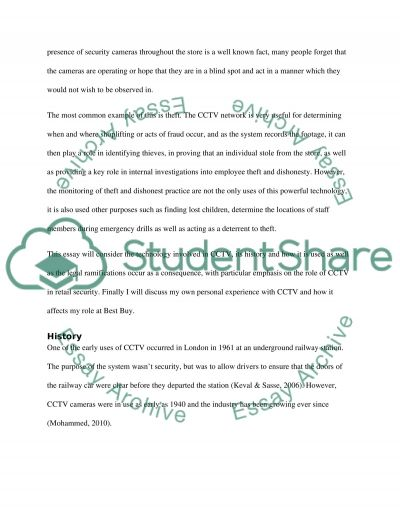 Security Technology Essay example