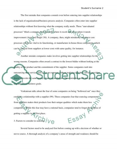 Article analysis essay example