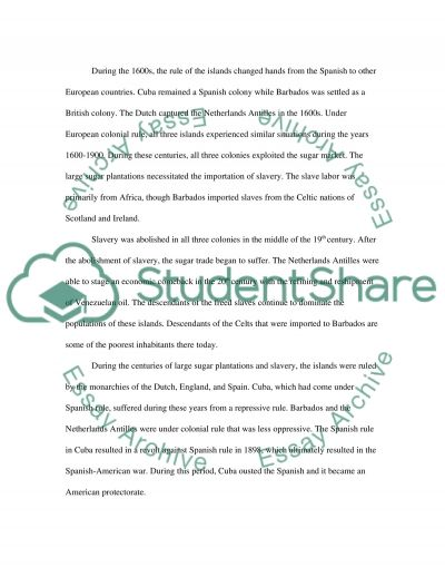 The Islands Cuba, Barbados, and the Netherlands Antilles essay example