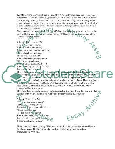 The Ballad of the White Horse essay example