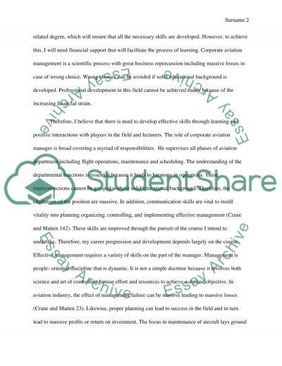 GBAA Scholarship and Darden School of Business essay example