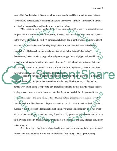 my parents love story outline essay example