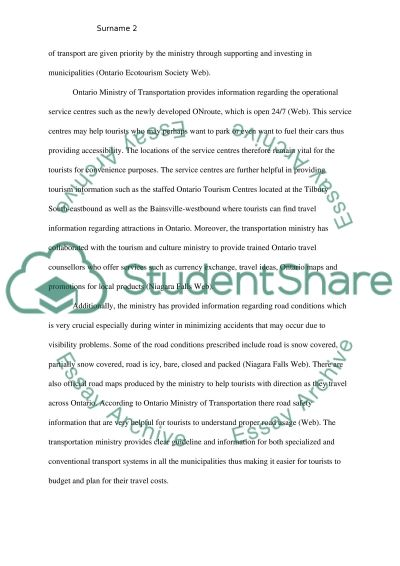 Tourism essay example