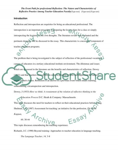Research study essay example