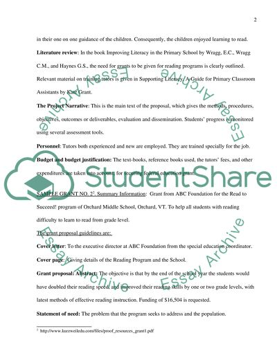 Grants Essay Example | Topics and Well Written Essays - 500 ...