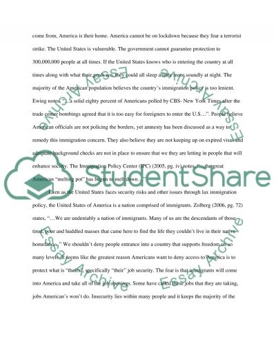 Immigration essay example