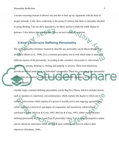 personality reflection essay example topics and well written  personality reflection essay example