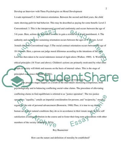 Research Essay Proposal Sample Interview With Three Psychologists On Moral Development Lawrence  Kohlberg Roy Baumeister Sigmund Examples Of Thesis Statements For Expository Essays also Proposal Argument Essay Examples Interview With Three Psychologists On Moral Development Lawrence  Narrative Essay Topics For High School Students